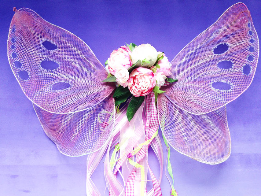 DIY Sparkly Butterfly or Fairy Wings