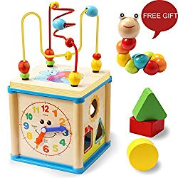 educational toys for 2 year old wooden bead maze