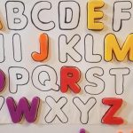 Letter Fridge Matching Game Using Large Magnet Letters