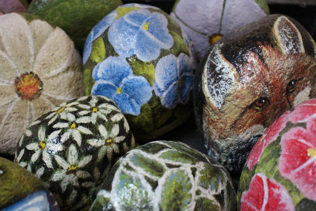 River Rocks For Painting flowers and animals