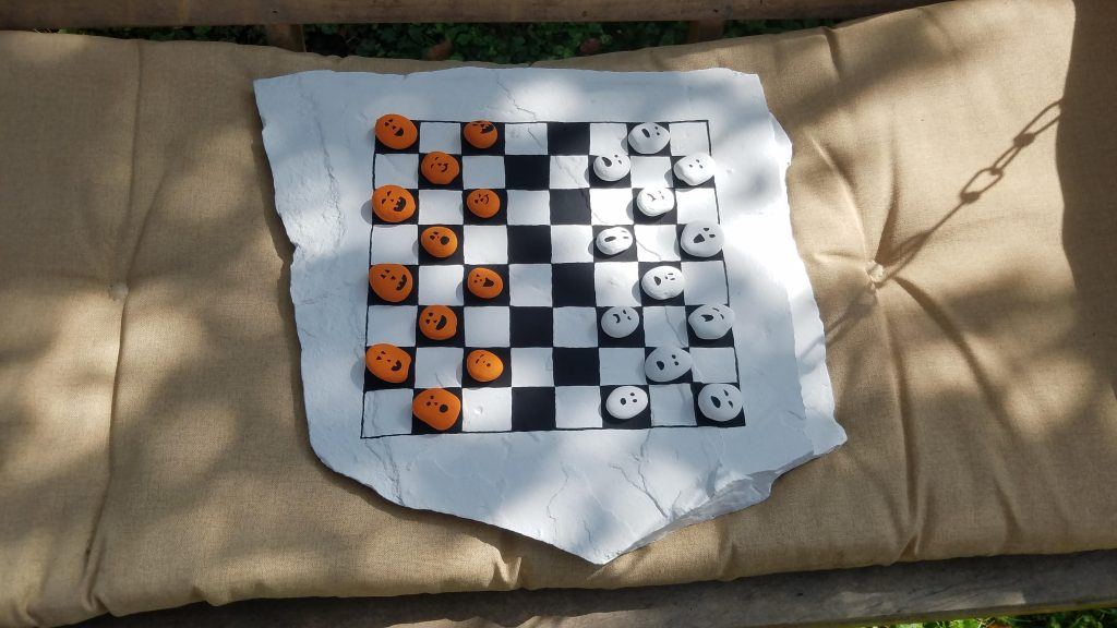 diy checkers game board