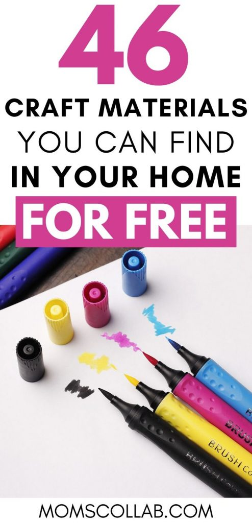 Craft Materials You Can Find in Your Home for Free