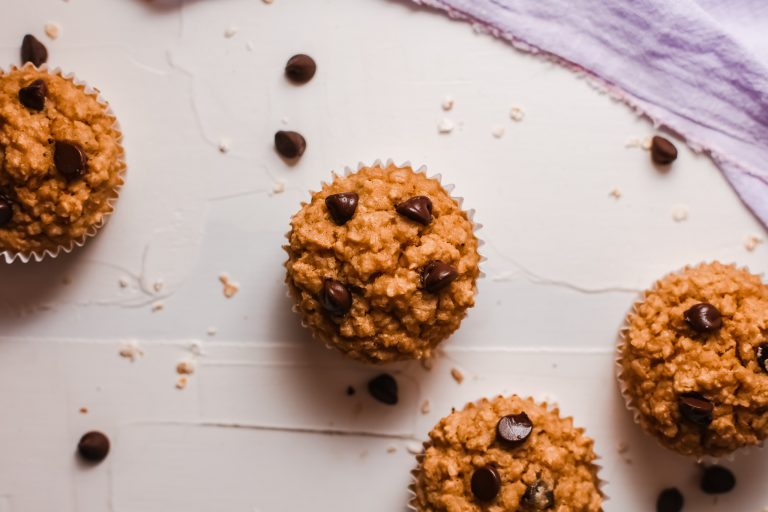 Easy Chocolate Peanut Butter Oatmeal Muffins Recipe