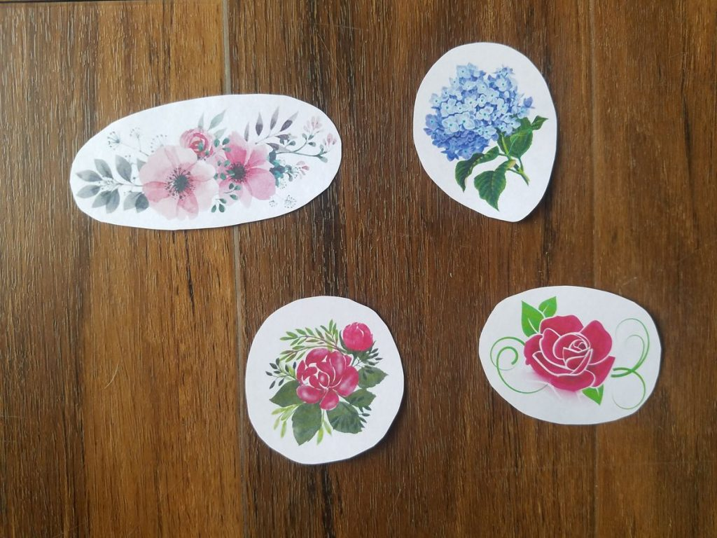 Rounded cut sticker example