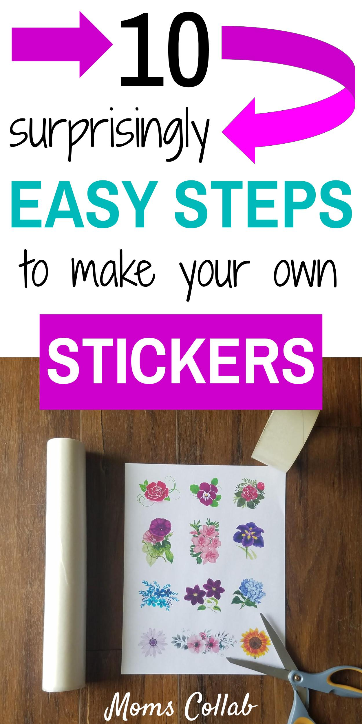Easy Steps to Make Your Own Stickers