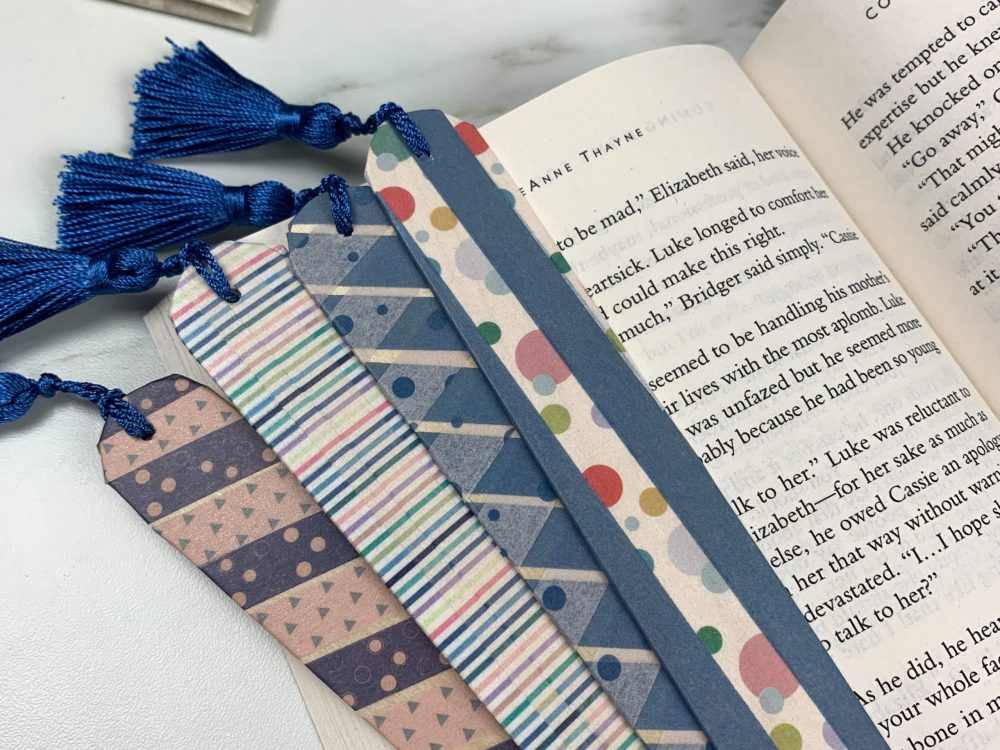 pile of homemade bookmarks