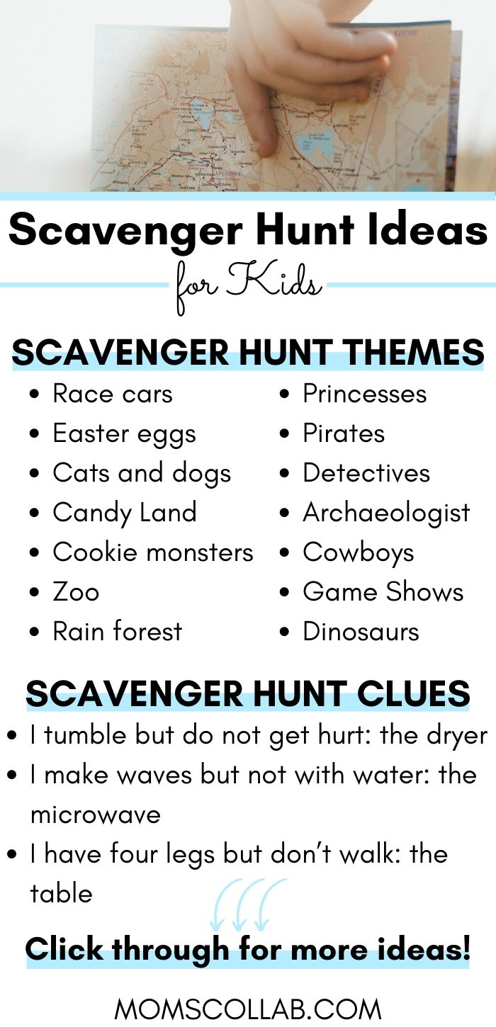 Scavenger Hunt Ideas for Kids Infographic