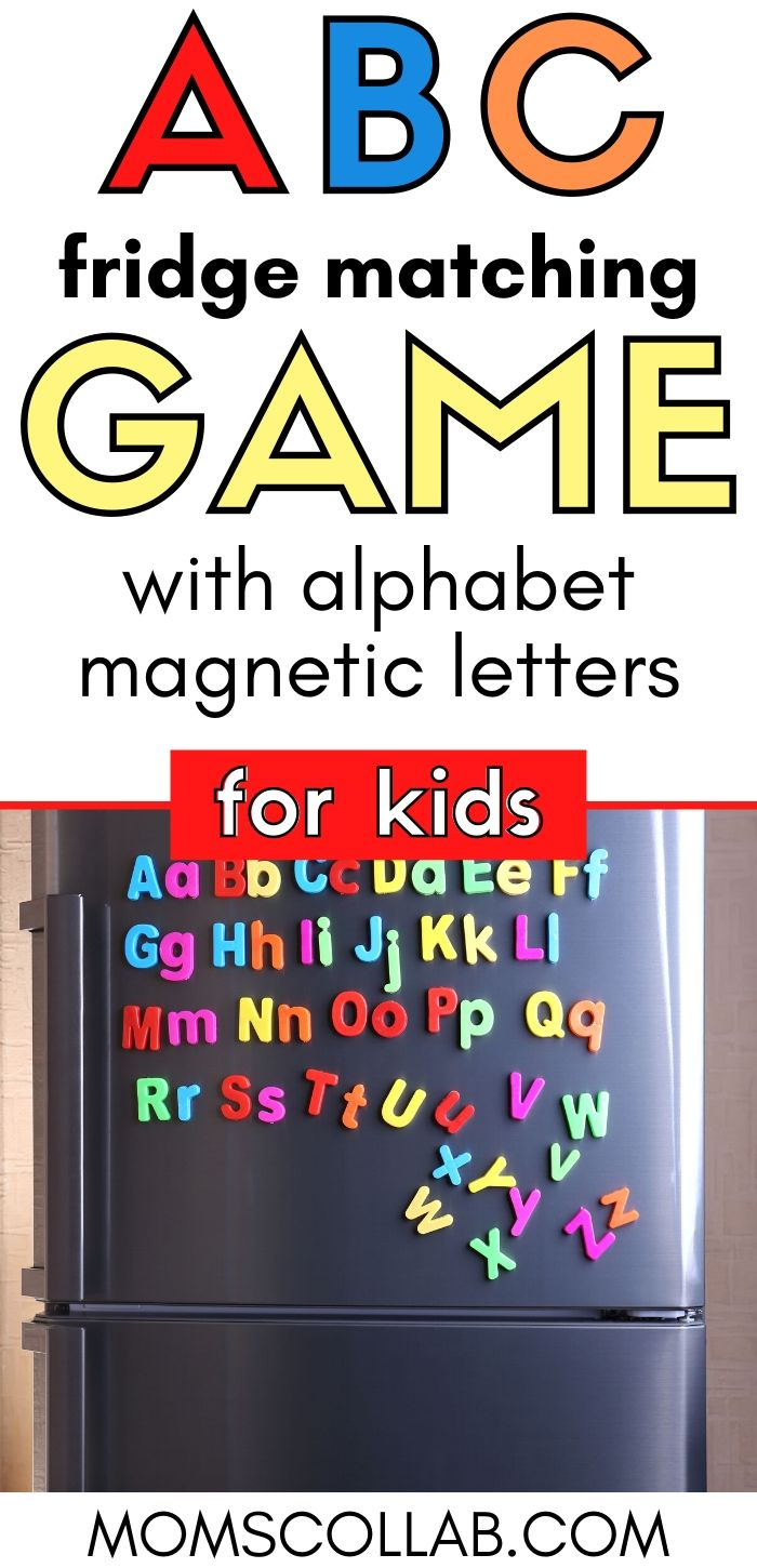 ABC Matching Game with Fridge Magnet
