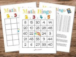 Math Bingo Game Multiplication 2x3x4x5