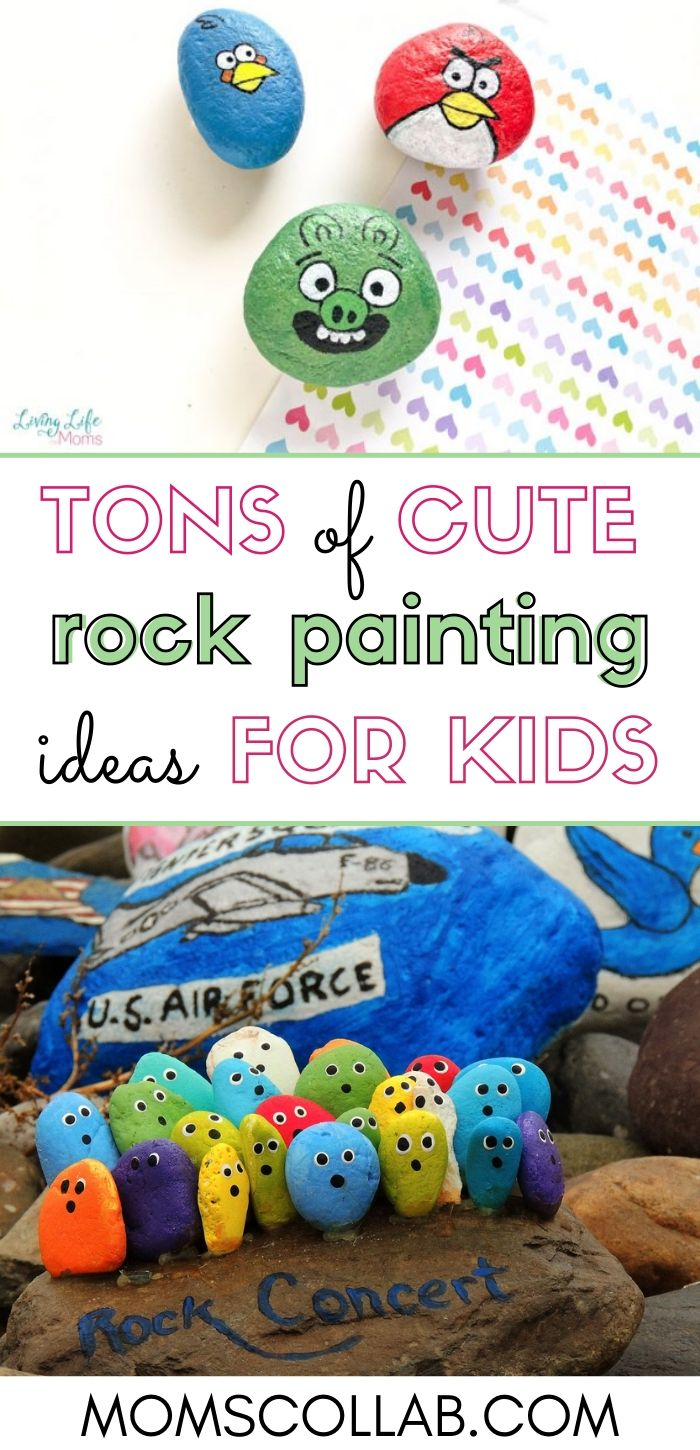 Tons of Cute Rock Painting Ideas for Kids