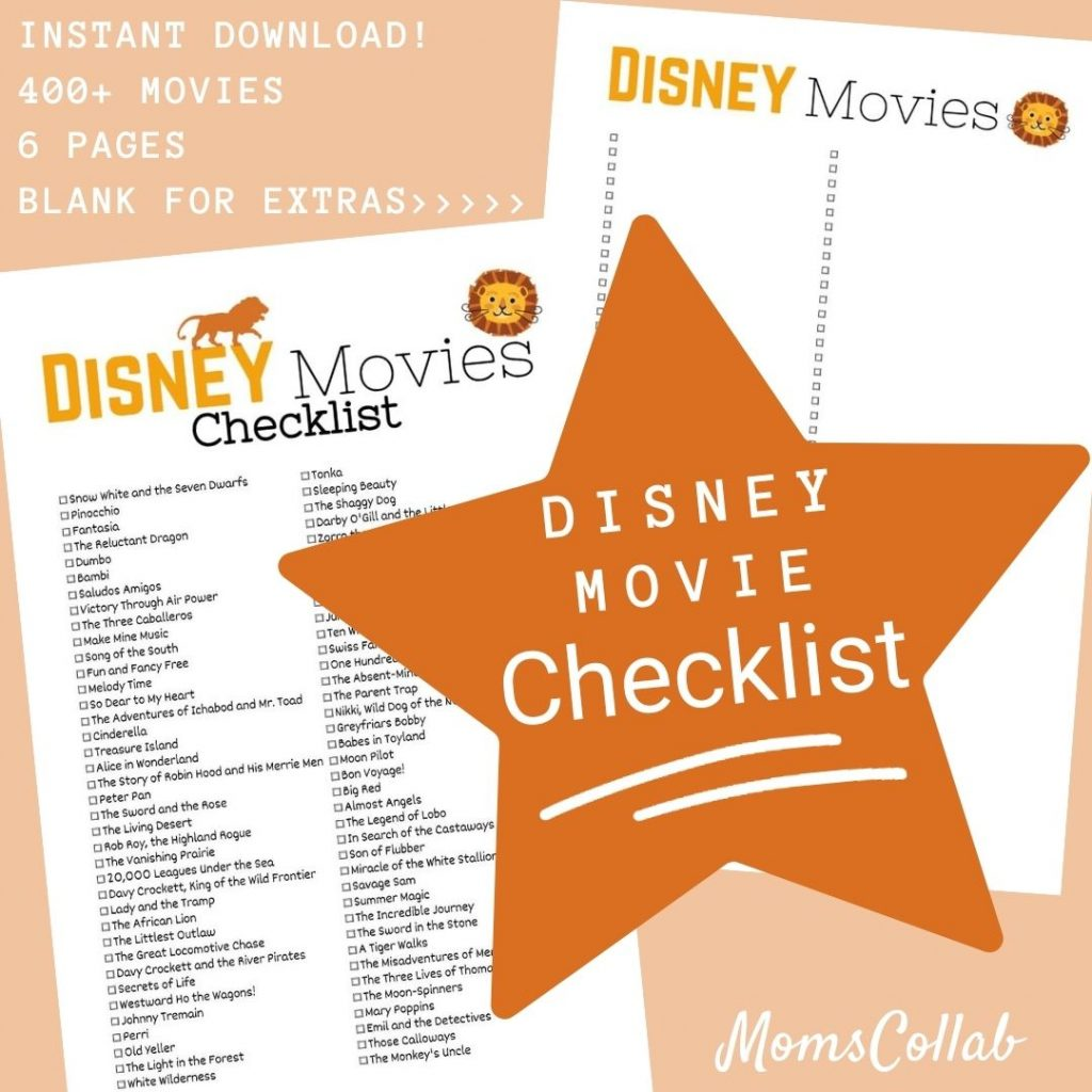 Disney Movie List Lion Design